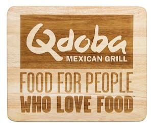 QDOBA Mexican Grill Wood Logo