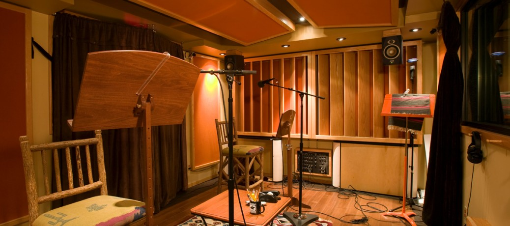 Large Recording Booth for Multi-Mic Sessions